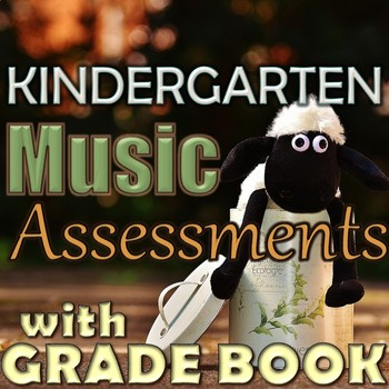 Kindergarten Music Assessments with Grade Book Page - Prin