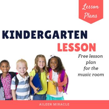 Kindergarten Music Lesson {Freebie}