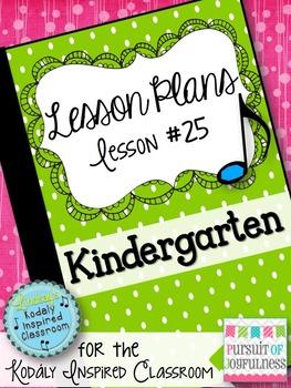 Kindergarten Music Lesson Plan {Day 25}