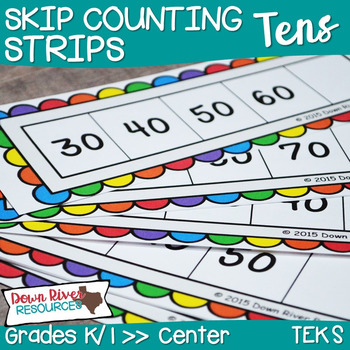 Kindergarten NEW Math TEKS K.5: Skip Counting by 10s Numbe