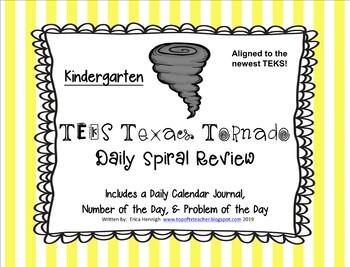 Kindergarten NEW TEKS TX Tornado Spiral Review Part 4: Set