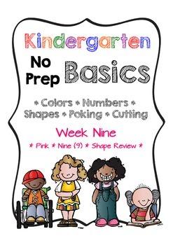 Kindergarten NO PREP Basics {Week 9}