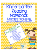 Kindergarten Notebook Labels 100 Prompts Aligned to ELA CCS