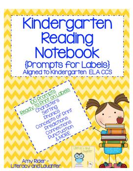 Kindergarten Notebook Labels 100 Prompts Aligned to ELA CCS
