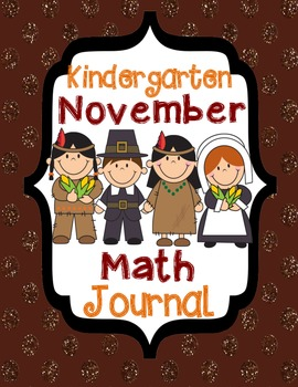 Kindergarten November Math Journal - Common Core