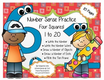 Kindergarten Number Sense - Four Squares!
