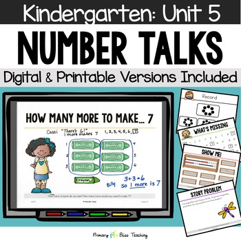 Kindergarten Number Talks ~ January ~ Common Core Aligned