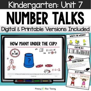 Kindergarten Number Talks ~ March ~ Common Core Aligned