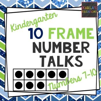 Kindergarten Number Talks: Ten Frames Number 7-10