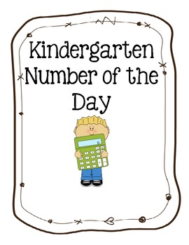 Kindergarten Number of the Day 1 -10