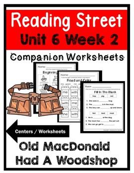 Kindergarten. Old MacDonald had a Woodshop. Unit 6 Week 2