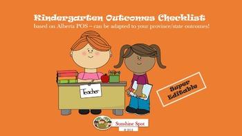 Kindergarten Outcomes Checklist - Assessment