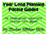 Kindergarten Pacing Guides for the YEAR
