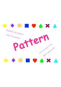 Kindergarten Pattern Worksheets