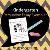 Kindergarten Persuasive Essay Writing Exemplar (Lucy Calki