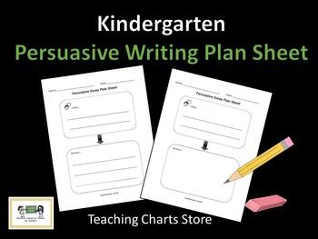 Kindergarten Persuasive Essay Writing Plan Sheet (Lucy Cal