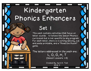 Kindergarten Phonics Enhancers Set 1