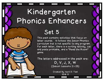 Kindergarten Phonics Enhancers Set 5