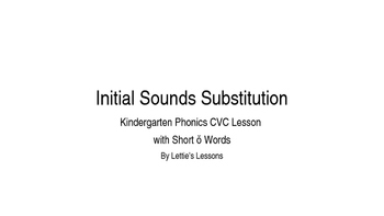 Kindergarten Phonics Lesson: Initial Sound Substitutions S