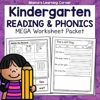Kindergarten Phonics Worksheets: CVC and Pre-Primer Dolch