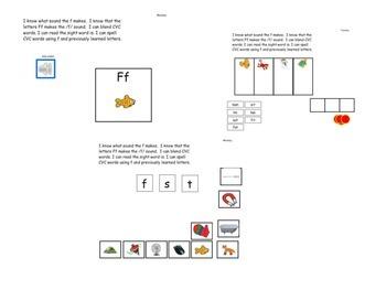 Kindergarten Phonics lesson Unit 6 letter f for the mimio