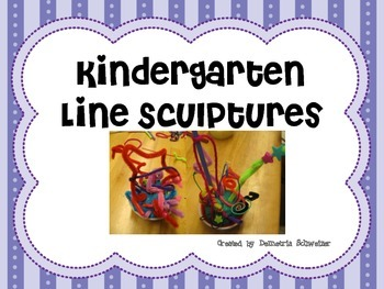 Kindergarten Play-Doh Line Sculptures