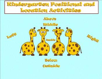 Kindergarten Positional and Location Smartboard Introducti