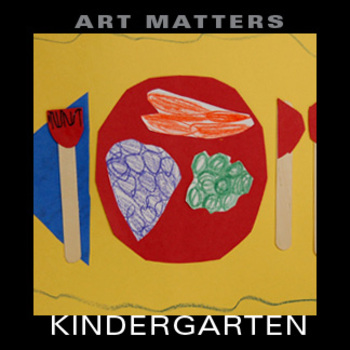 """Kindergarten """"Primary Color Place Settings"""" Art Project"""
