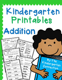 Kindergarten Printables - Addition