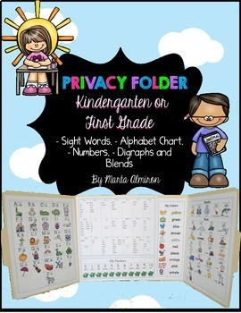 Privacy Folder w/Sight Words, Blends,Digraphs and More - B