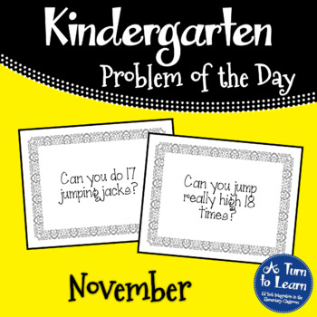 Kindergarten Problem of the Day - November