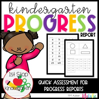 Kindergarten Progress/Assessment Tracker