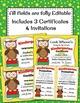 Kindergarten Promotion Certificate and Invitation Cute Owl