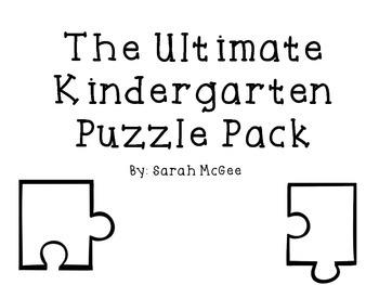 Kindergarten Puzzle Pack