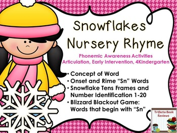 Kindergarten RTI:  Snowflakes Rhyme and Activities