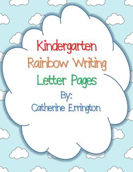 Kindergarten Rainbow Writing Letter Printables