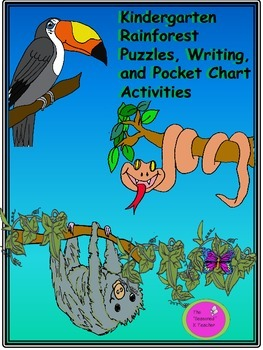 Kindergarten Rainforest Puzzles, Writing, and Pocket Chart