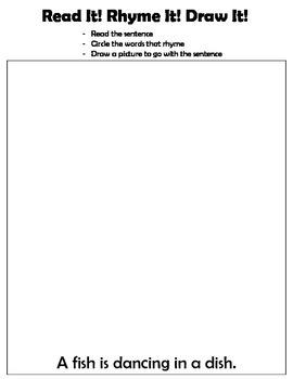 Kindergarten: Read, Write, Draw - Rhyming 3 (a fish is swi