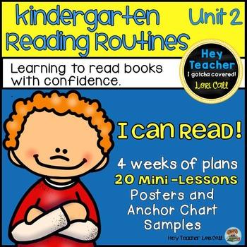 Kindergarten Reader's Workshop Unit 2 20 Mini Lessons {Sto