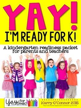 Kindergarten Readiness Packet - preschool, pre-k, kinderga
