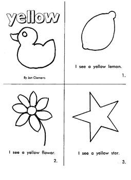 """Kindergarten Reading Book #3  """"Yellow"""""""