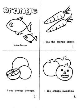 "Kindergarten Reading Book #5  ""Orange"""