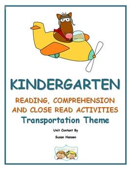 Kindergarten : Close Reading, Comprehension and Fluency on