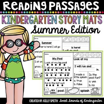Kindergarten Reading Comprehension Passages {Summer}
