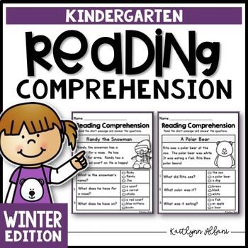 Kindergarten Reading Comprehension Passages - Winter Edition