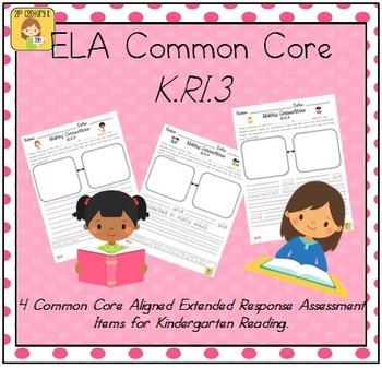 Kindergarten Reading Extended Response Set K.RI.3
