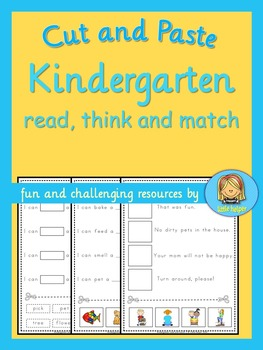 Kindergarten Reading Fun  read, think and match