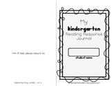 Kindergarten Reading Response Journal