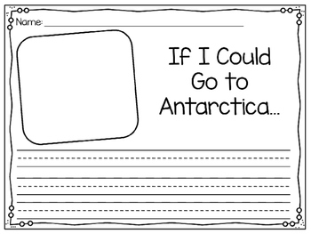Kindergarten Reading Street Companion: Antarctica Writing