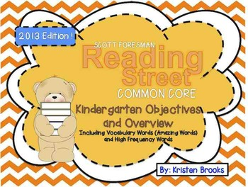 Reading Street Kindergarten Objectives and Overview (2013